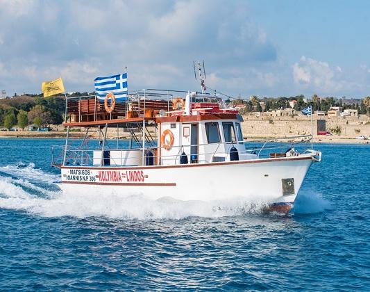 kolymbia boat trips